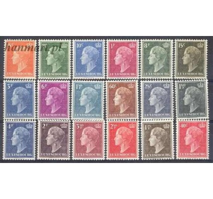 Znaczek Luksemburg 1948 Mi 442-459 Z podlepką *