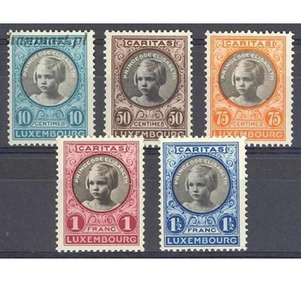Znaczek Luksemburg 1927 Mi 192-196 Czyste **