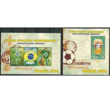 Znaczek Saint Vincent i Grenadyny 2014 Mi ark+bl(1432) Czyste **