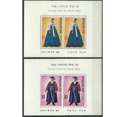Znaczek Korea Południowa 1973 Mi bl 370-371 Czyste **