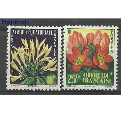 Znaczek Francuska Afryka Równikowa 1958 Mi 310-311 Czyste **
