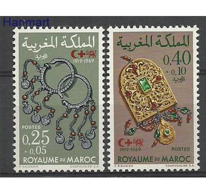 Znaczek Maroko 1969 Mi 652-653 Czyste **
