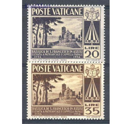 Znaczek Watykan 1954 Mi 223-224 Czyste **