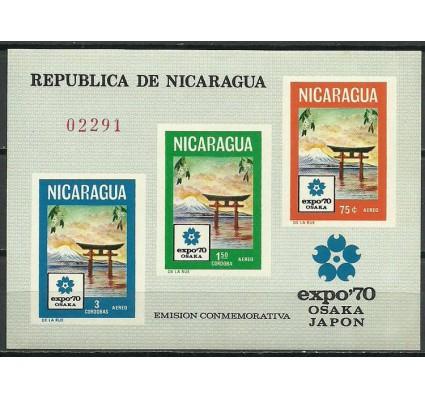 Znaczek Nikaragua 1970 Mi bl 71 Czyste **