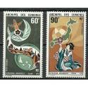 Komory 1970 Mi 106-107 Czyste **