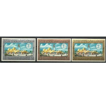 Znaczek Jordania 1965 Mi 520-522B Czyste **