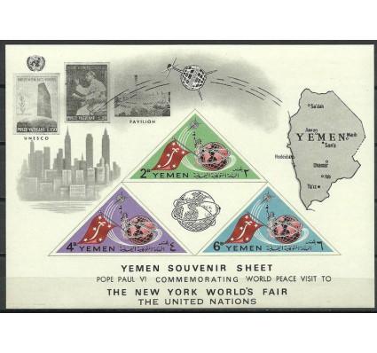 Znaczek Jemen Królestwo 1965 Mi bl 25 Czyste **