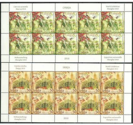 Znaczek Serbia 2010 Mi ark 340-341 Czyste **