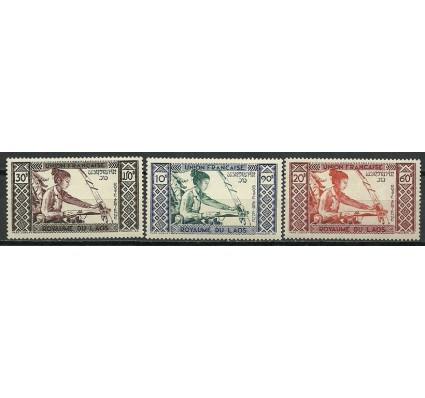 Znaczek Laos 1952 Mi 18-20 Czyste **