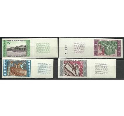 Znaczek Kongo 1970 Mi 201-204B Czyste **