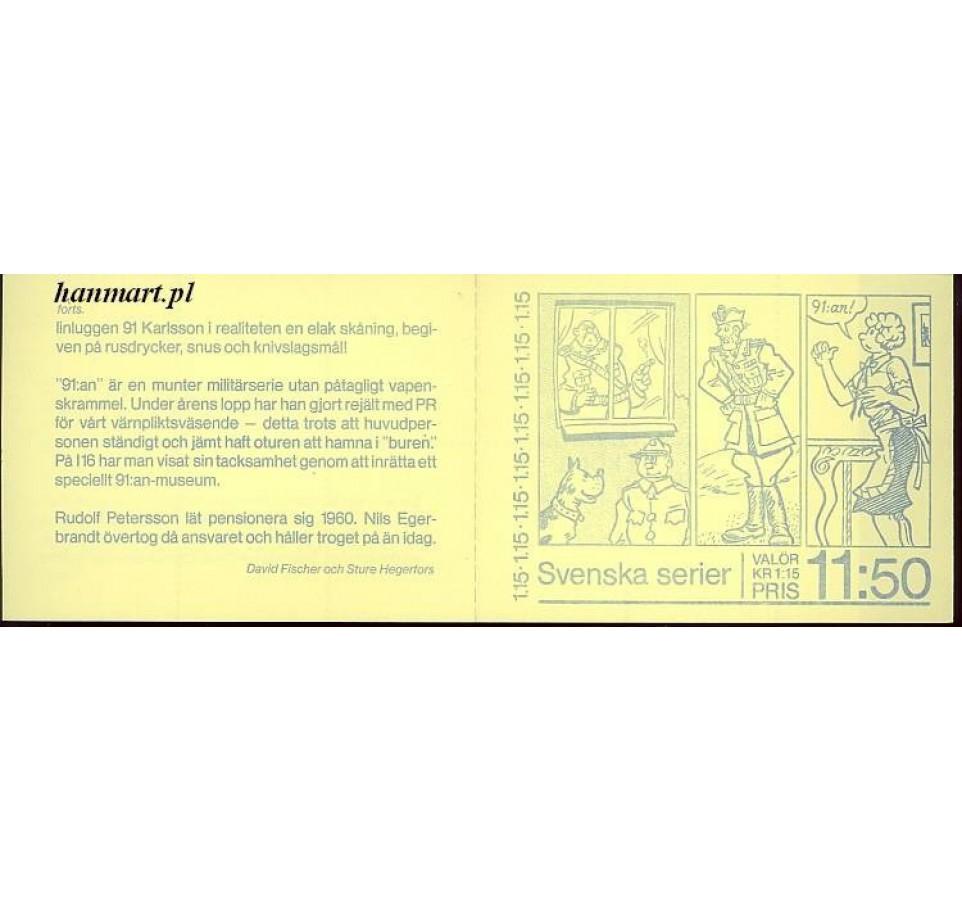 Szwecja 1980 Mi mh 1125 Czyste **