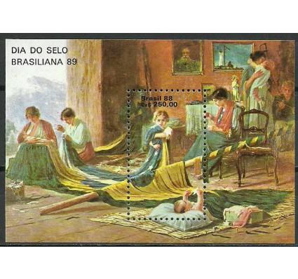 Znaczek Brazylia 1988 Mi bl 74 Czyste **