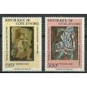 Wybrzeże Kości Słoniowej 1987 Mi 955-956 Czyste **