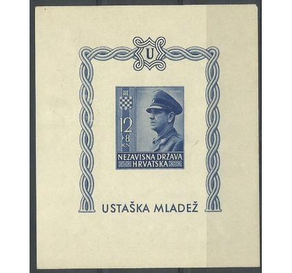 Znaczek Chorwacja 1943 Mi bl 4B Z podlepką *