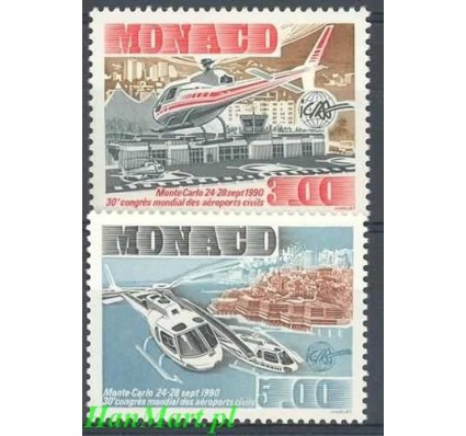 Znaczek Monako 1990 Mi 1973-1974 Czyste **