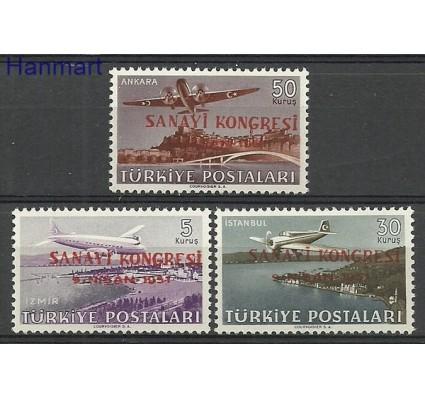 Znaczek Turcja 1951 Mi 1270-1272 Z podlepką *