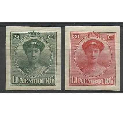 Znaczek Luksemburg 1922 Mi 140-141 Z podlepką *