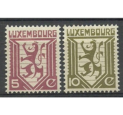 Znaczek Luksemburg 1930 Mi 232-233 Z podlepką *