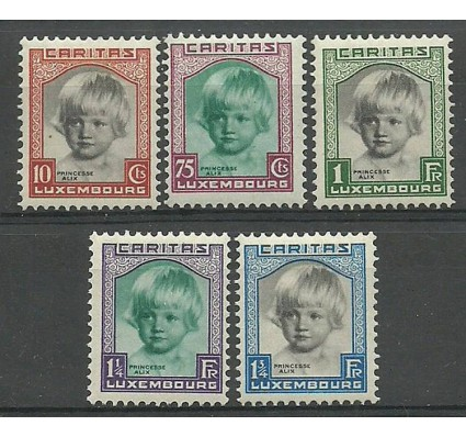 Znaczek Luksemburg 1931 Mi 240-244 Z podlepką *