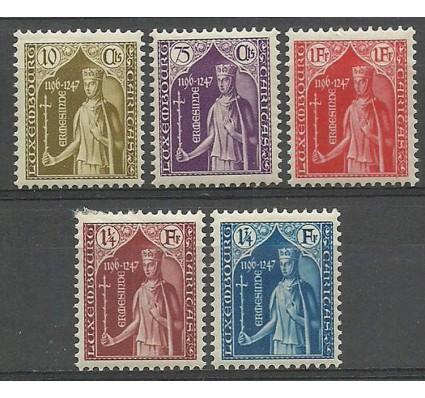 Znaczek Luksemburg 1932 Mi 245-249 Z podlepką *