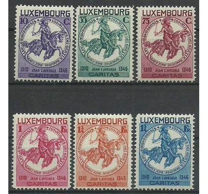 Znaczek Luksemburg 1934 Mi 259-264 Z podlepką *