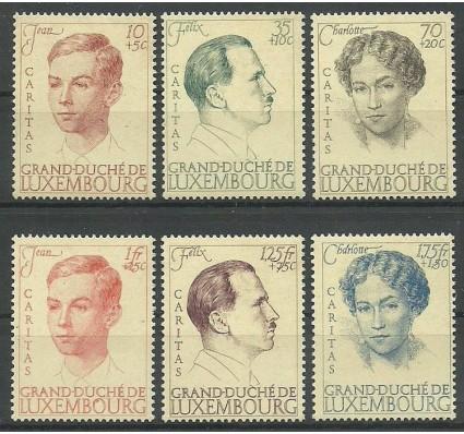 Znaczek Luksemburg 1939 Mi 333-338 Z podlepką *
