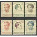 Luksemburg 1939 Mi 333-338 Z podlepką *