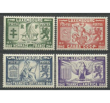 Znaczek Luksemburg 1945 Mi 343-346 Z podlepką *