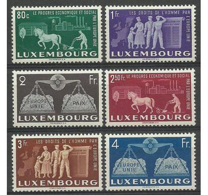 Znaczek Luksemburg 1951 Mi 478-483 Z podlepką *