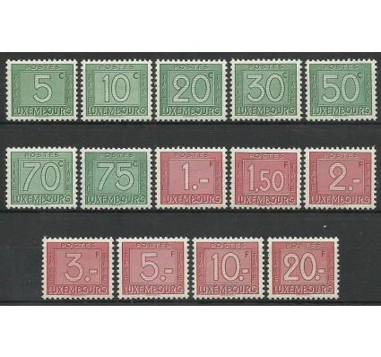 Znaczek Luksemburg 1946 Mi por 23-36 Z podlepką *