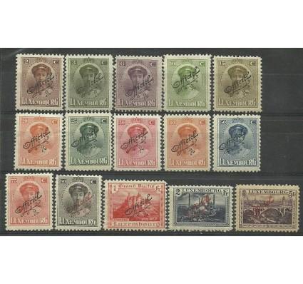 Znaczek Luksemburg 1922 Mi die 109-123 Z podlepką *