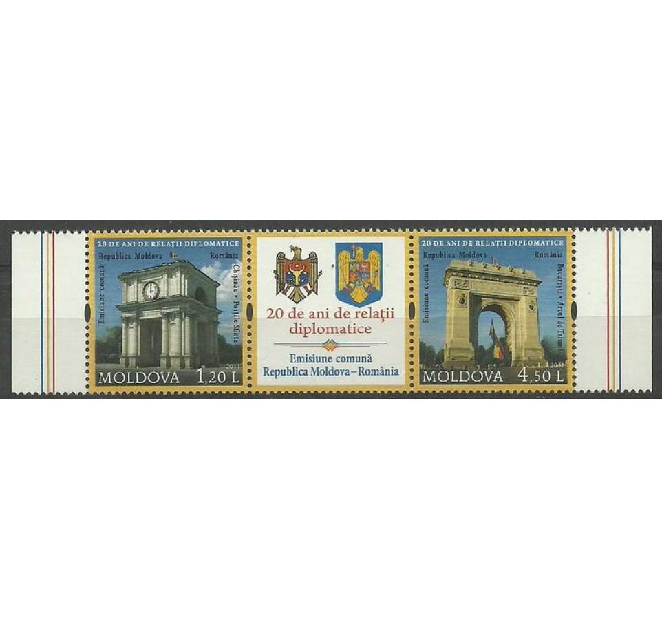 Mołdawia 2011 Mi 769-770 Czyste **