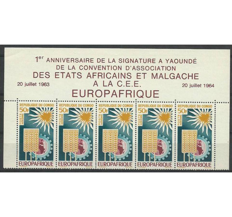 Kongo 1964 Mi 51 Czyste **