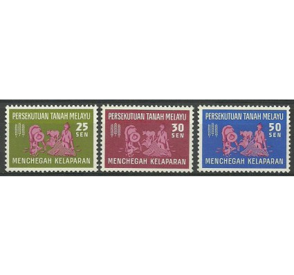 Znaczek Malezja 1963 Mi ptm32-34 Czyste **