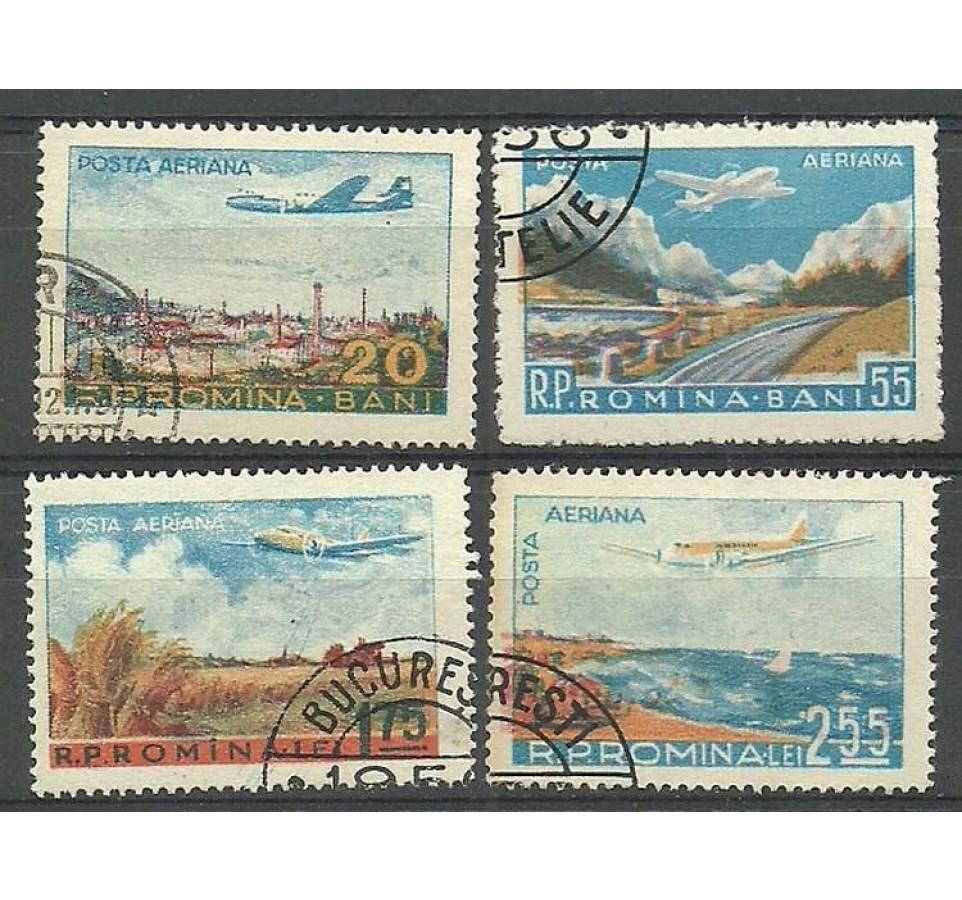 Rumunia 1956 Mi 1626-1629 Stemplowane