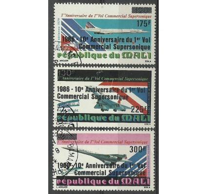 Znaczek Mali 1986 Mi 1085-1087 Stemplowane