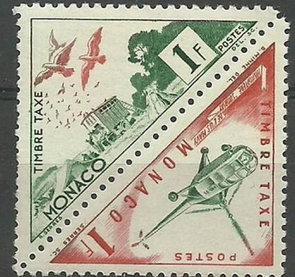 Znaczek Monako 1953 Mi por 40-41 Czyste **