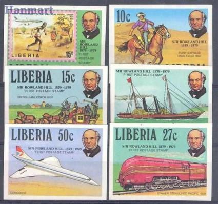 Znaczek Liberia 1979 Mi 1098-1103B Czyste **
