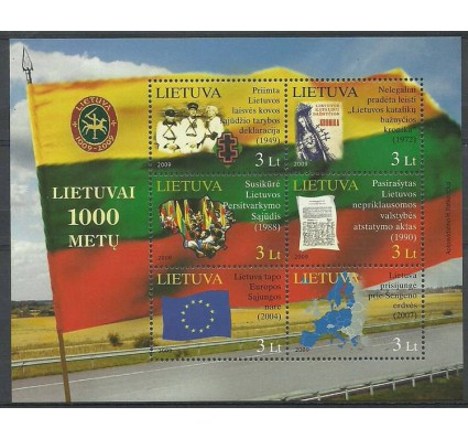 Znaczek Litwa 2009 Mi bl 39 Czyste **