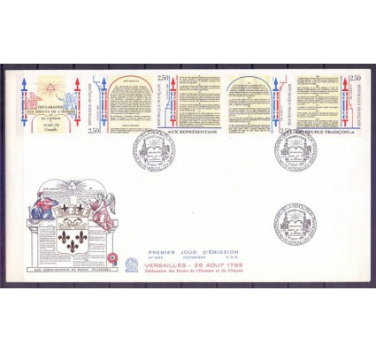 Znaczek Francja 1989 Mi 2735-2738 FDC