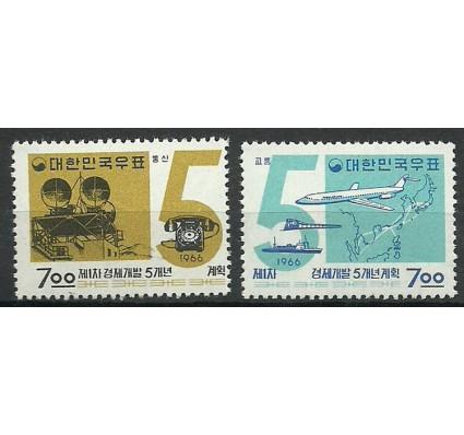 Znaczek Korea Południowa 1966 Mi 531-532 Czyste **