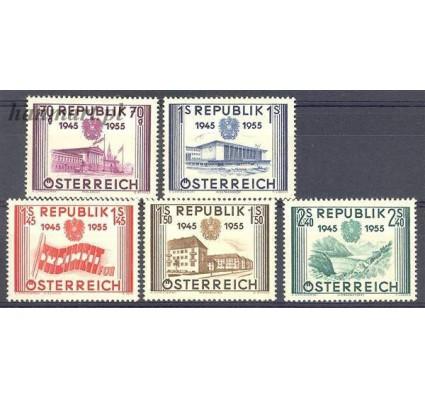 Znaczek Austria 1955 Mi 1012-1016 Z podlepką *