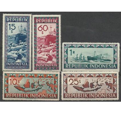 Znaczek Indonezja 1948 Mi 41-45 Czyste **