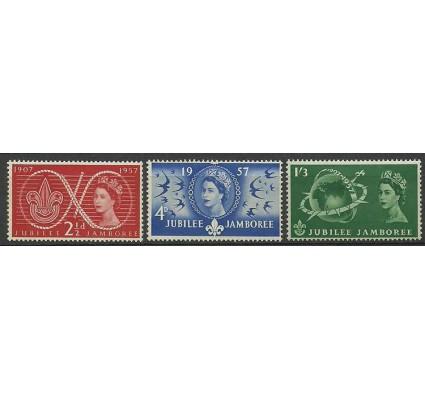 Znaczek Wielka Brytania 1957 Mi 299-301 Czyste **