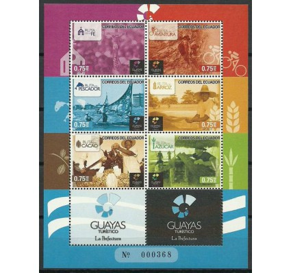 Znaczek Ekwador 2012 Mi ark 3477-3482 Czyste **