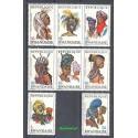 Rwanda 1969 Mi 327-334 Czyste **