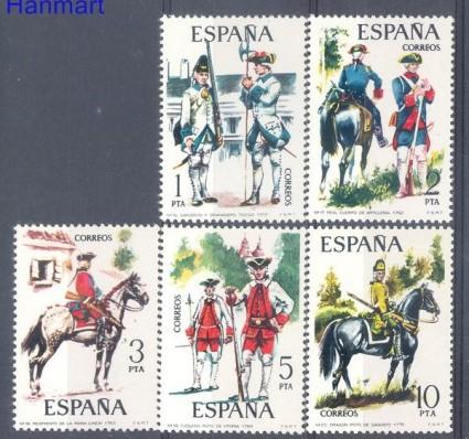 Znaczek Hiszpania 1975 Mi 2130-2134 Czyste **