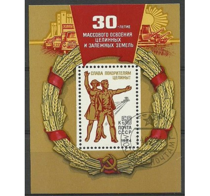 Znaczek ZSRR 1984 Mi bl 170 Stemplowane