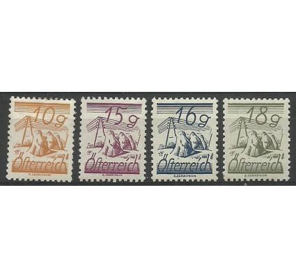 Znaczek Austria 1925 Mi 455-458 Z podlepką *