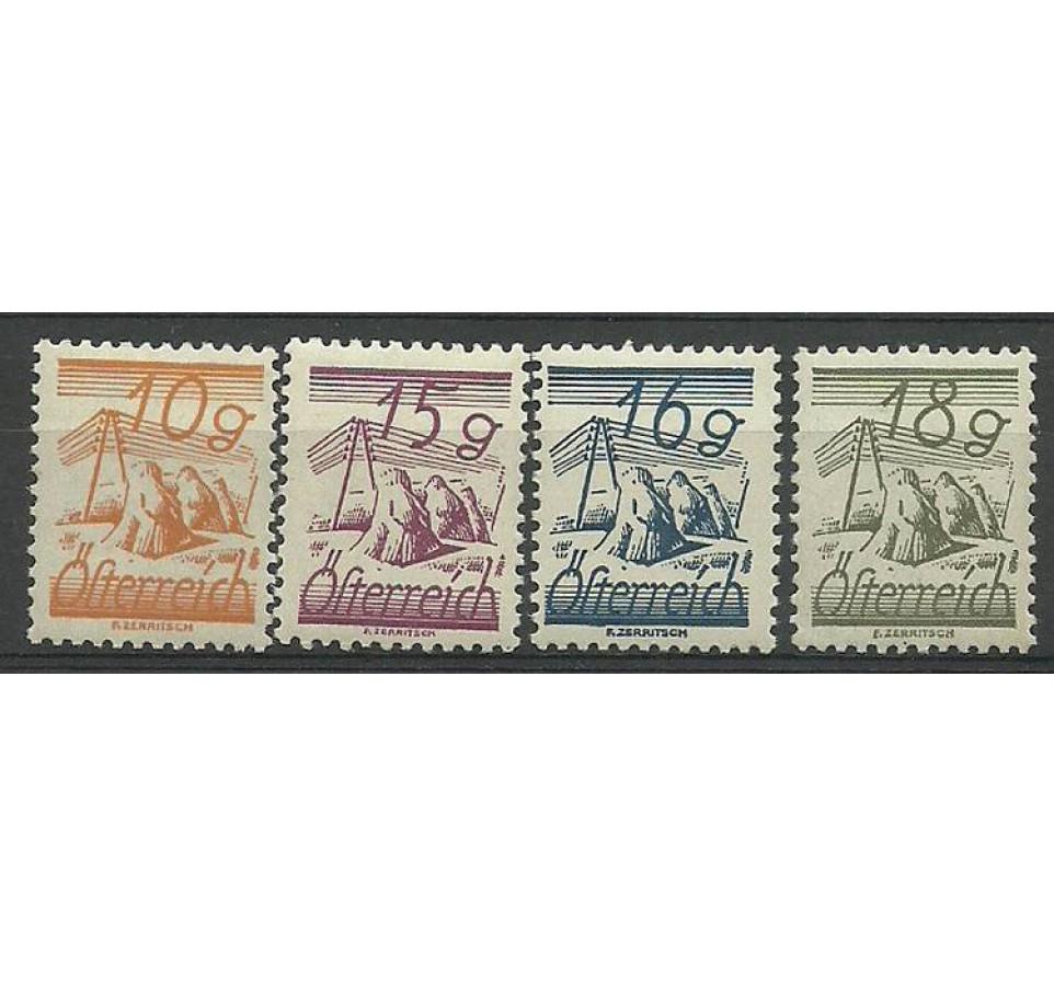 Austria 1924 Mi 455-458 Czyste **